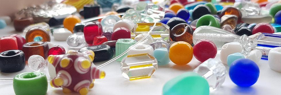 ערכה להכנת תכשיטים בגווני - קשת בענן צבעונית במיוחד + סרטוני הדרכה