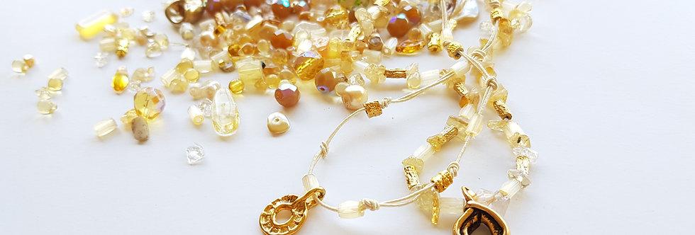 ערכה להכנת תכשיטים בגווני - הזהב בשדה שיבולים + סרטוני הדרכה