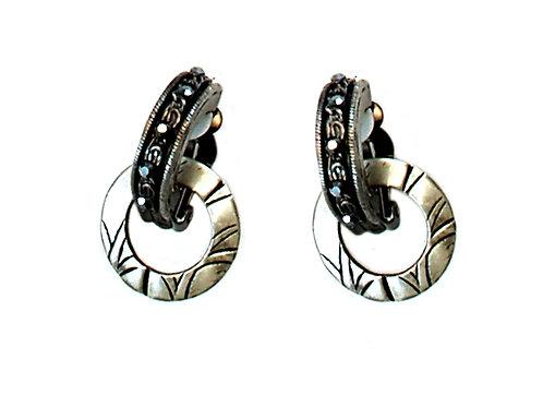 Black Swarovski and metal Earrings