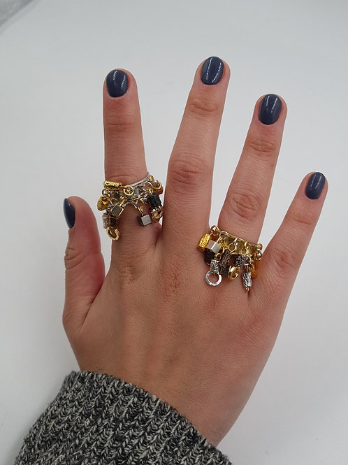 Vintage Beaded and Dangled Ring
