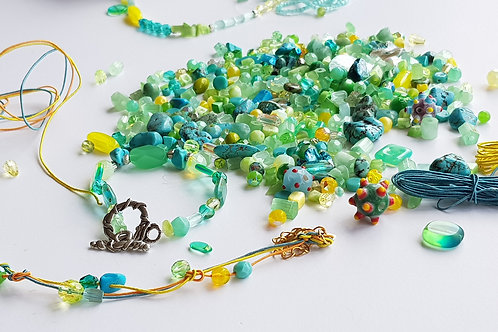 DIY Jewelry Kit - Mermaid Green