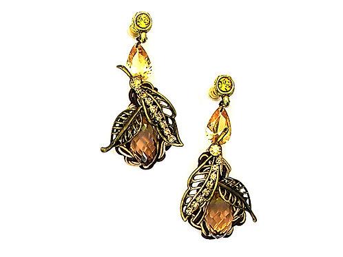 Swarovski crystal Rose Earrings