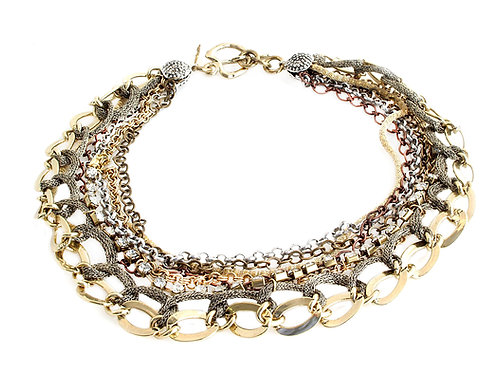 Mix metal & Mesh Necklace