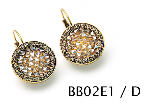 Round hook earrings with Swarovski crystals Earrings