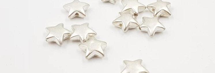 חרוזי כוכב בצבע כסף