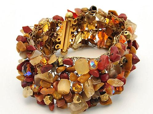 Gold and Brown mineral bracelet. OP $149