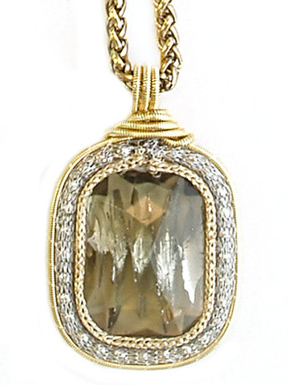 Rectangular Czech crystal Necklace