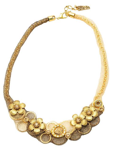 Floral Mesh Necklace