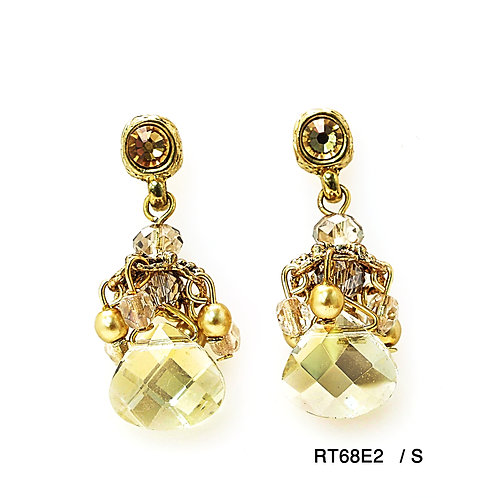 pear shape crystals earrings