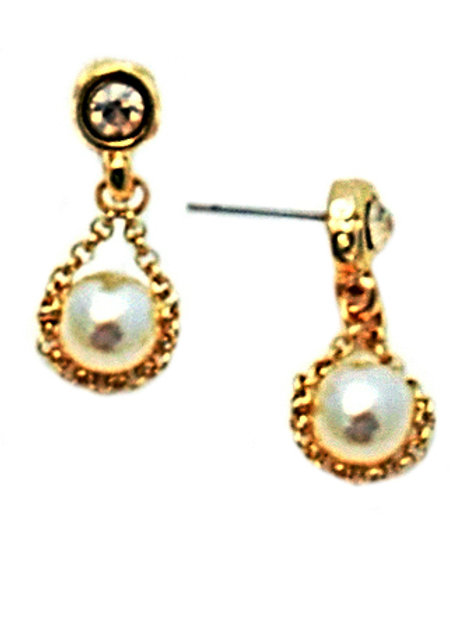 Gold & Pearls Earrings