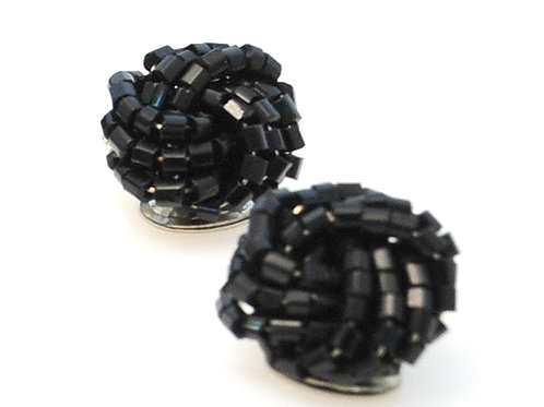 Black Seedbeads Earrings