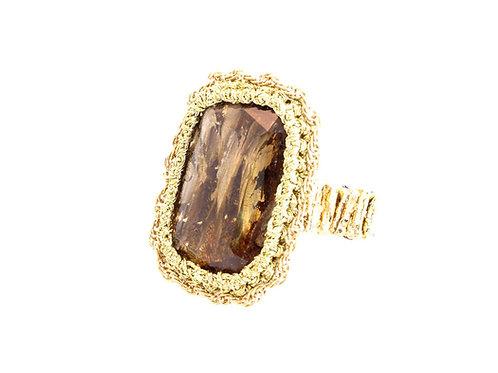 Rectangular framed Ring