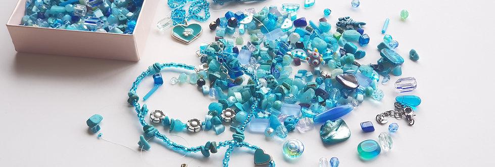 ערכה להכנת תכשיטים בגווני - כשהשמיים פגשו בכחול של הים