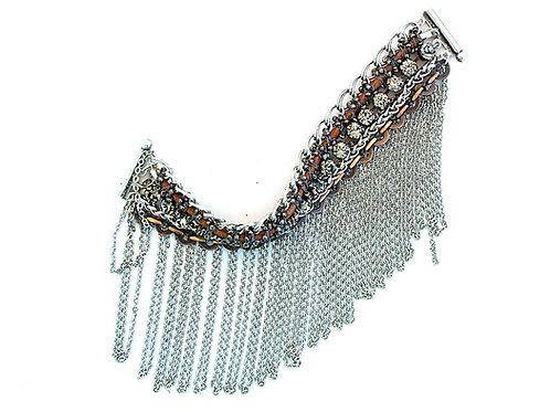 Copper & Crystals Fringe Bracelet