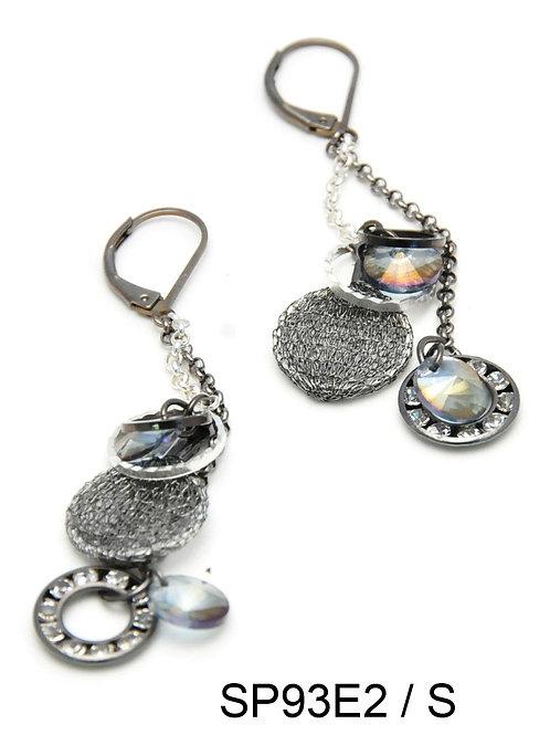 swarovski crystal and rhinestones long earrings