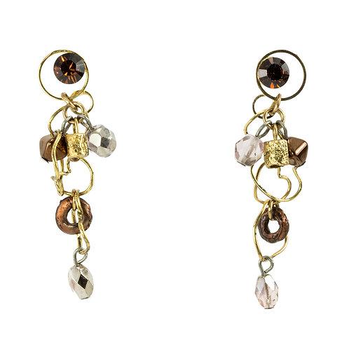 mix metal earrings