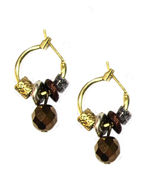 Round Metal Beads Earrings