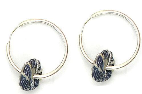 jeans button on hoop earrings