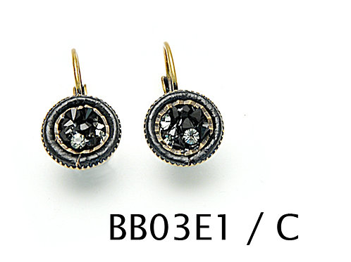 black swarovski crystal earrings