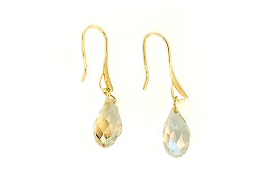 Swarovski crystal tear drops earrings