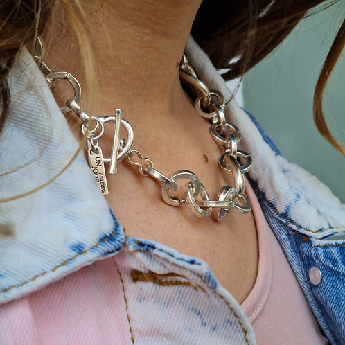 Chunky Chain Silver Necklace