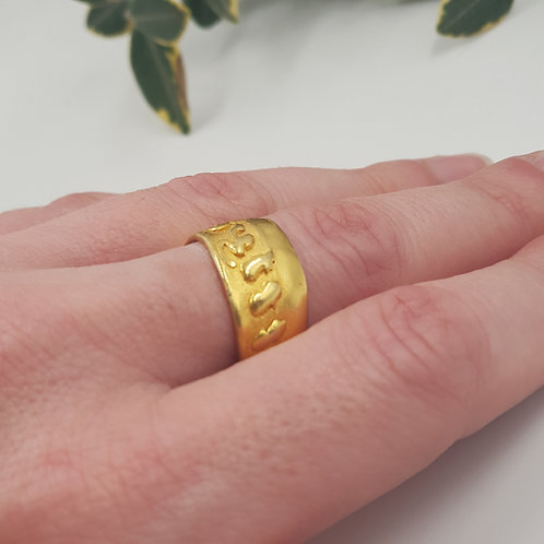 Wide Vintage Band Ring