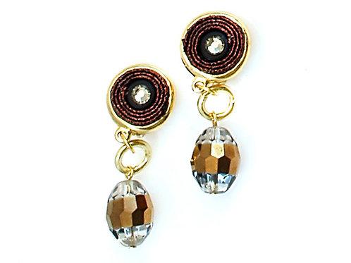 gold beads earrings