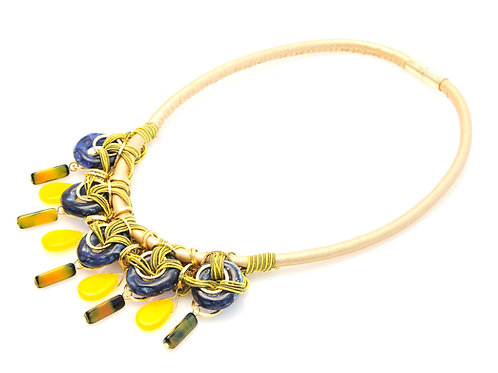 Candy Necklace Yellow & Blue