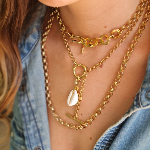 Layered Chunky Chain Necklace Set