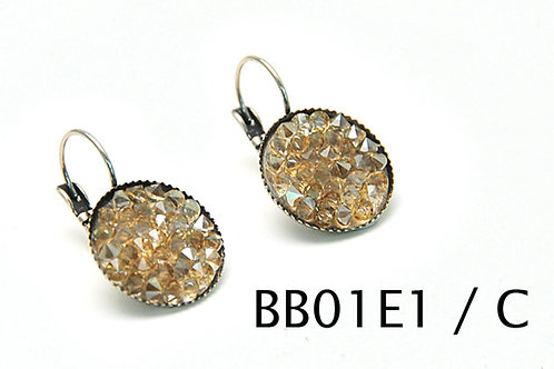 Swarovski crystals boho earrings