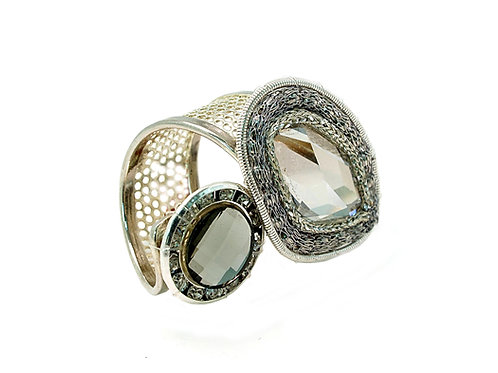 Rock & Metal crystal  Ring