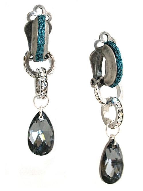 Crystal teardrop pendant Earrings