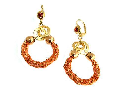 sterling silver mesha nd god beads earrings