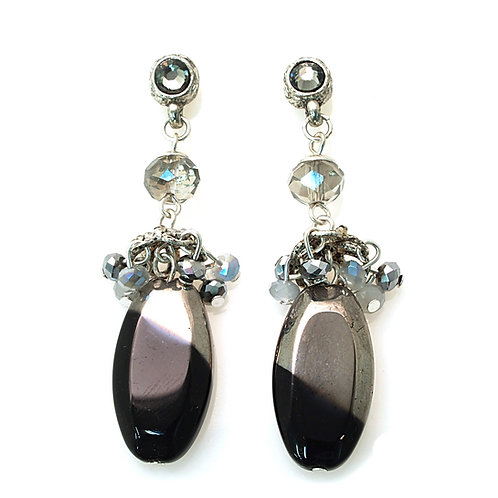 Natural stone and crystals earrings