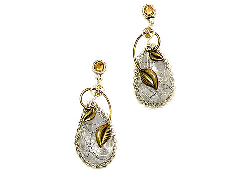 Glass Tear Drop Earrings
