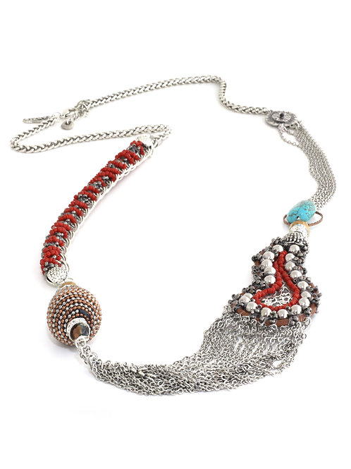 Blue Filigree Necklace