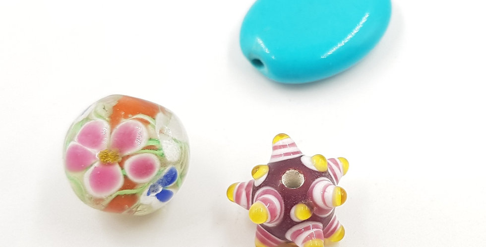 3 אלמנטים מזכוכית עבודת יד