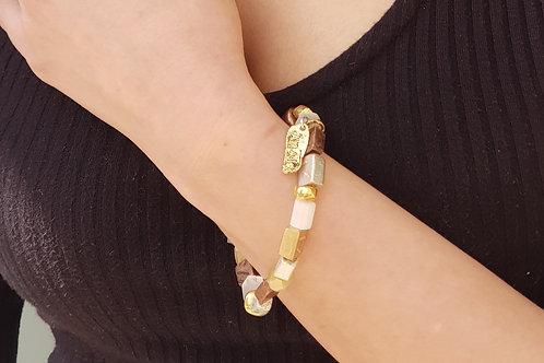 Vintage Gold Beaded Bracelet