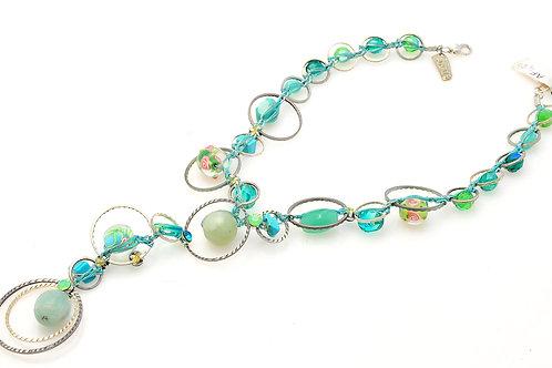 Round green Necklace
