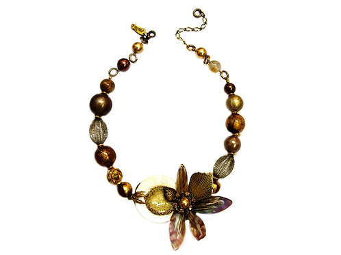Autumn Flower Necklace / PC51N1