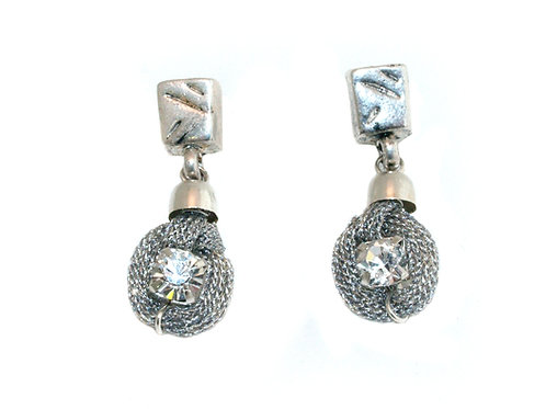 Swarovski crystal and metal earrings