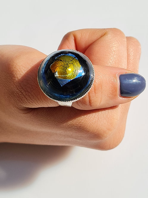 Gold Layered Murano Glass Ring