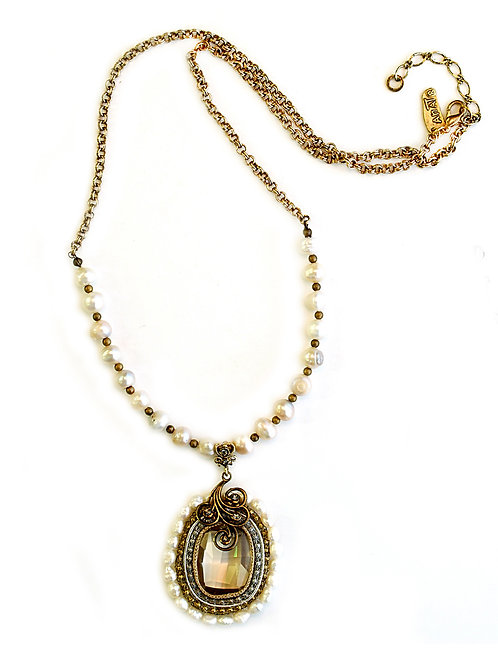 Pearls & Swarovski Necklace