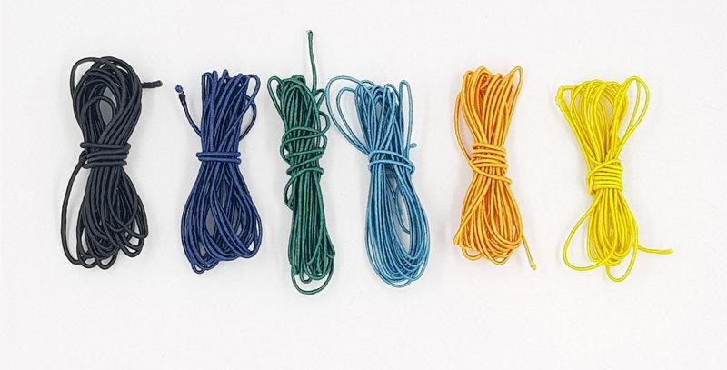 חוטי משי על כותנה -12 מטר בצבעים כהים