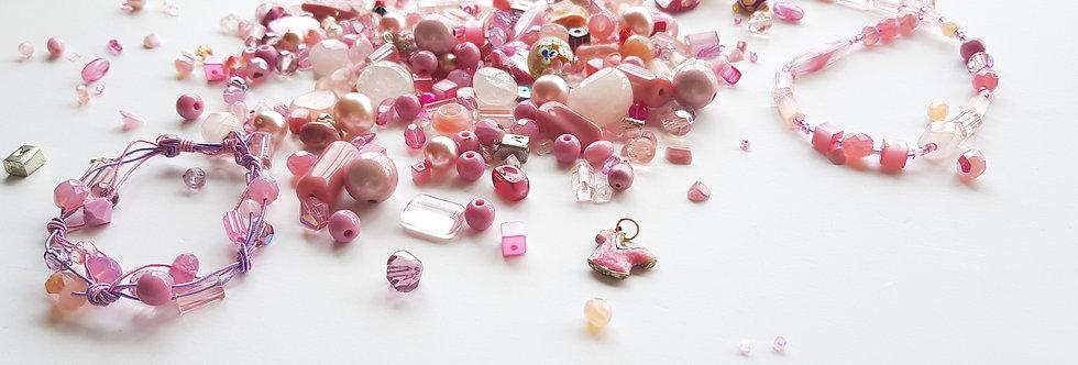 ערכה להכנת תכשיטים בגווני - העולם הורוד שלי