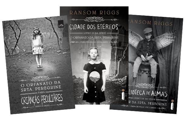 Capas dos 3 livros que compõem a coleção