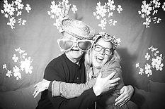 Happy Couple photo taken in the Camera Camper vintage trailer photo booth