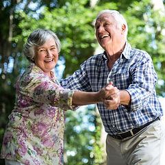 happy older couple dancing Blue Mountains Food Services