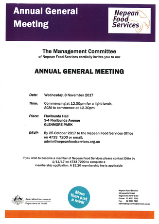 Annual General Meeting Coming Up