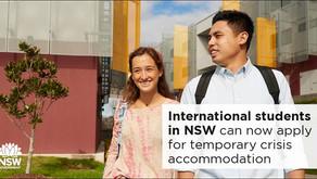 ¿Eres estudiante de NSW y tienes problemas de alojamiento? ¡Atento acá!